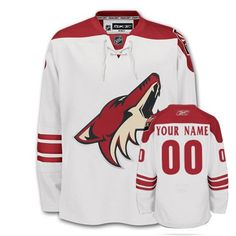 Phoenix Coyotes Away White Reebok Premier 7185 Jersey 78f9fbc25