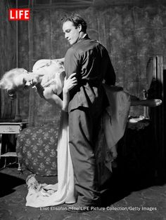 A young Marlon Brando in a scene from the 1947 production of 'A Streetcar Named Desire'