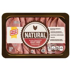OSCAR MAYER Natural Roast Beef is made with no artificial ingredients and no added nitrates or nitrites. Healthy Lunch Meat, Oscar Mayer, Roast Beef Sandwiches, Slow Roast, French Dip, Lunch Box, Daily Deals, Sliders, Baked Goods