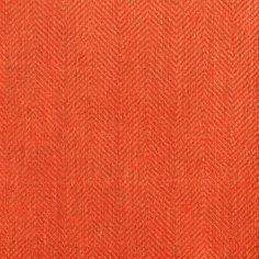 ANICHINI Fabrics | Nobel Linen Herringbone Orange Residential Fabric - an orange herringbone linen fabric