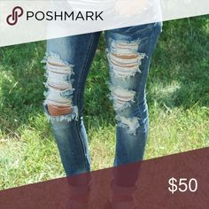 •Destroyed Denim• * Zip and Button Fly * Pockets * Skinnies  Check out our website for more products and information, www.septemberlane.com or follow us on Instagram @shopseptemberlane.  🛍 Shop Women's Clothing & Accessories 💜 Shop Monograms   📍 Personal Styling  💍 Wedding Accessory Packages 💌 Collab September Lane Pants