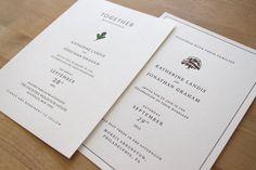 Letterpress Wedding Invitation  Arboretum Sample by moontreepress, $5.00