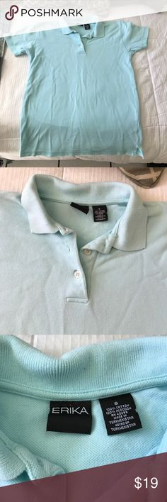 Light blue polo Super clean and comfy light blue polo. Extremely clean and comfy on. Looks very professional and a beautiful color. Unisex Polo by Ralph Lauren Tops