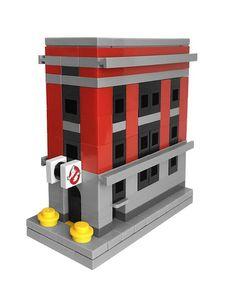 LEGO Mini Ghostbusters Firehouse - microscale