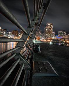 Lines, Pier San Francisco. City Lights At Night, Night Light, Gas Lights, San Francisco, Ocean, California, Building, Instagram Posts, Travel