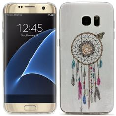 Original UrCover® Samsung Galaxy S7 Edge [KAMERASCHUTZ] Hülle Tasche Schutzhülle Case Cover Weich Silikon TPU Flexibel Ultra Slim Dünn Muster Traumfänger Dreamcatcher 10,90€