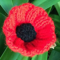 Gauge is not important as it is only a decorative piece. Knitted Poppy Free Pattern, Knitting Patterns Free, Free Knitting, Amigurumi Patterns, Crochet Patterns, Knitted Poppies, Knitted Flowers, Handmade Flowers, Handmade Crafts