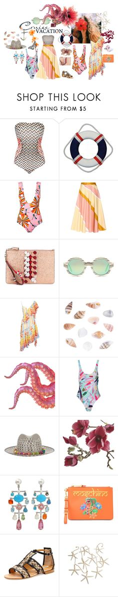 """""""Cruise Vacation"""" by sarahhughes-net ❤ liked on Polyvore featuring Missoni Mare, Emilio Pucci, Roksanda, Cartier, Anya Hindmarch, Illesteva, Temperley London, Mara Hoffman, Valdez and Crate and Barrel"""