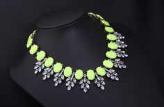 Morpheus Boutique  - Green Crystal Stone Droplet Statement Limited Edition Necklace , CA$70.77 (http://www.morpheusboutique.com/jewelry-watches/necklaces/green-crystal-stone-droplet-statement-limited-edition-necklace/)