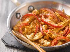 Sauté de dinde au paprika et poivron rouge