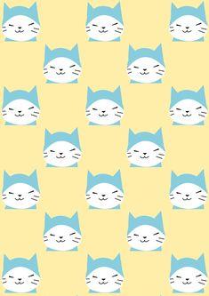 FREE printable cat pattern paper   #kawaii