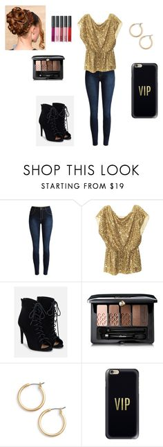 """""""Shining like a golden star"""" by mcderr ❤ liked on Polyvore featuring Alice + Olivia, JustFab, Guerlain, Nordstrom and Casetify"""