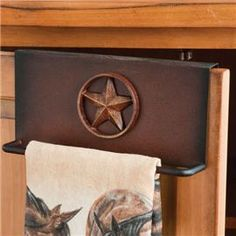 star cabinet door towel holder; rods.com