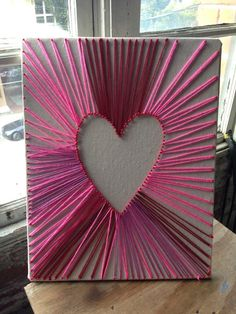 Love this idea! Instead of a heart, I think I'll try this project with initials.
