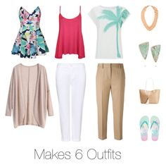 Tropical Vacation Capsule Wardrobe by cherenefrancis on Polyvore featuring WearAll, J Brand, 3.1 Phillip Lim, Ally Fashion, Aéropostale, INC International Concepts, Melissa Joy Manning and Pieces