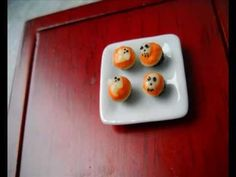 #  Miniature Halloween Cupcakes tutorial - Polymer clay 1:12 scale doll house food   Like,Repin,Share! :)