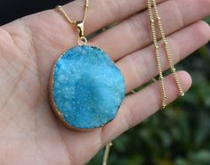 Druzy Agate Pendant Necklaces - Quartz Crystals - Shop handmade boho and Earth inspired jewelry by ColbieGirl Jewelry on Etsy!  https://www.etsy.com/shop/ColbieGirlJewelry