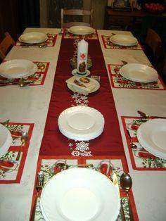 The traditional Polish Christmas Eve setting of Wigilia.  Our Christmas Eve tradition and passing it on to my boys.