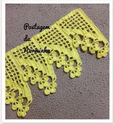 How to Crochet Wave Fan Edging Border Stitch Crochet Edging Patterns, Crochet Lace Edging, Crochet Motifs, Crochet Borders, Crochet Art, Love Crochet, Filet Crochet, Easy Crochet, Crochet Hooks