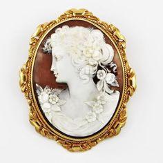 Retro Cameo Brooch   Perry's Fine Antique & Estate Jewelry