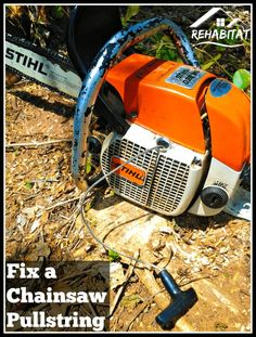Sometimes they break right in the middle of a job and prevent you from finishing. But sometimes you get lucky and have the tools with you to fix the problem on the spot. Such is the case Best Chainsaw, Chainsaw Repair, Stihl Chainsaw, Lawn Mower Maintenance, Lawn Mower Repair, Lawn Equipment, Outdoor Power Equipment, Chainsaw Sharpener, Yard Tools