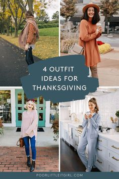 Top Atlanta fashion blogger, Poor Little It Girl, shares 4 Comfortable and Cute Thanksgiving Outfit Ideas that you can recreate. Click here!! #poorlittleitgirl #atlantablogger #thanksgivingouts #outfitideas #thanksgivinglooks #whattowear #turkeydaylooks #fallfashion #dinnerattire #comfortablethanksgiving #thanksgivinglooks