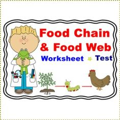 Food Chain and Food Web Worksheet/TestThere are 4 parts included:1. Match vocabulary with their meaning: 25 items2. Multiple Choice: 15 items3. Identify the trophic levels and answer the questions: 8 items4. write the answers in the blanks: 9 items** There are 6 pages: 4 for worksheet and 2 for answer keyThis worksheet/test are related with:Food Chain and Food Web Power Point PresentationOther interesting items: 1.