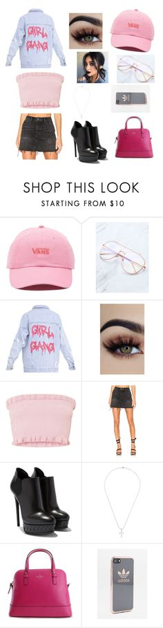 """""""Untitled #378"""" by cookiescore on Polyvore featuring Vans, GRLFRND, Dsquared2, Kate Spade and adidas"""