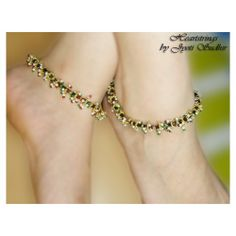 Online Shopping for Meenakari Anklet | Anklets | Unique Indian Products by Heartstrings by Jyoti Sudhir - MHEAR28923801530