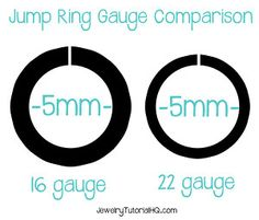 Jewelry wire wire gauge size conversion chart comparing awg the right way to use jump rings video jewelry tutorial headquarters bead size chartring keyboard keysfo Choice Image