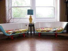 upcycling recycling neue anwendung badewanne sofa
