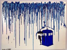 Doctor Who melted crayon art! I am absolutly in love with this piece! And its only $38!