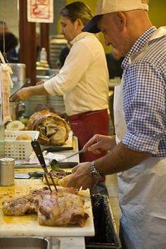 San Lorenzo Market Picture: Making a Lampredotto Sandwich at Nerbone