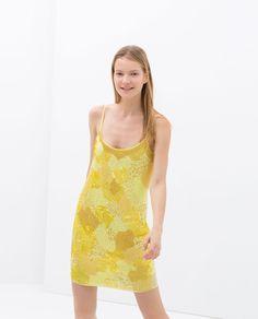 ZARA - NEW THIS WEEK - STRAPPY PRINTED DRESS
