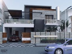 #apartmentsrental House Outside Design, House Front Design, Small House Design, Duplex House Plans, Bungalow House Design, Modern House Plans, Modern Exterior House Designs, Modern House Design, House Architecture Styles