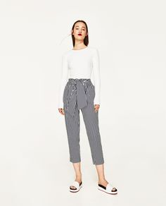 TROUSERS WITH BELT; Zara's; $36