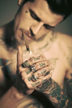 silver rings and #tattoo #ink