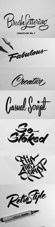 Brush Lettering Collection No. 1