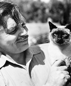 Gone with the Wind's Clark Gable and his siamese cat