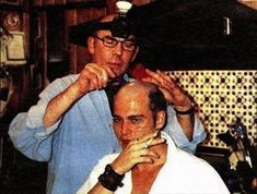 Hunter S. Thompson and Johnny Depp behind the scenes of Fear and Loathing in Las Vegas (1998)