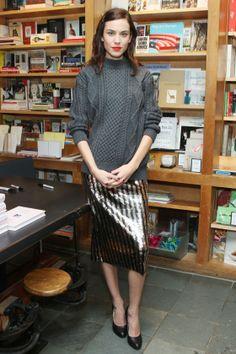 Alexa Chung At A Book Signing In New York, October 2013