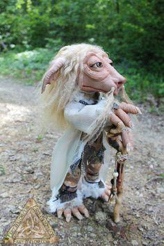 Ogden Fantasy Creature/Troll OOAK Art Doll Sculpted by FairyWillow, $400.00