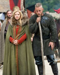 Vikings (on the History Channel) I'd pinned this particular costume already, but this is a bit better shot of it.