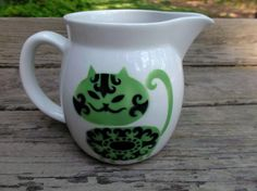 Arabia Finland Cat Pitcher Vintage from saltymaggie on Ruby Lane