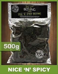 The Biltong Man Nice 'n Spicy Biltong Best Cut Of Beef, Biltong, Thing 1, South African Recipes, Men Store, Family Meals, Spicy, Treats, Europe