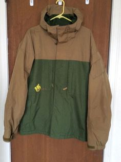 Men's Large Burton DryRide Snowboarding Jacket Green and Beige in Coats & Jackets | eBay