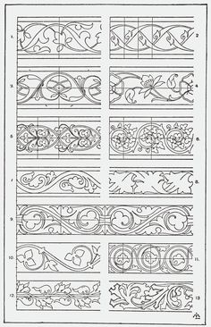 "SITE IS AN INCREDIBLE RESOURCE - all sorts of designs         From, ""A Handbook of Ornament"". 1898 by Franz Sales Meyer."