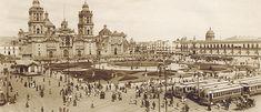 I love old photos of the city. Centro Histórico de la Ciudad de México