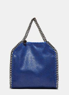 e69ede29e Stella Mccartney Women s Mini Falabella Bag in Blue Mala Falabella
