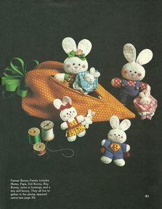 More Scrap Saver's Stitchery: Farmer Bunny Family in a Carrot